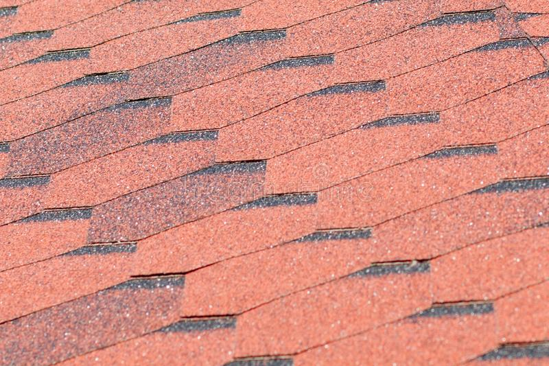 Texture, background, pattern. roofing tiles. flexible, soft, bituminous, composite royalty free stock images