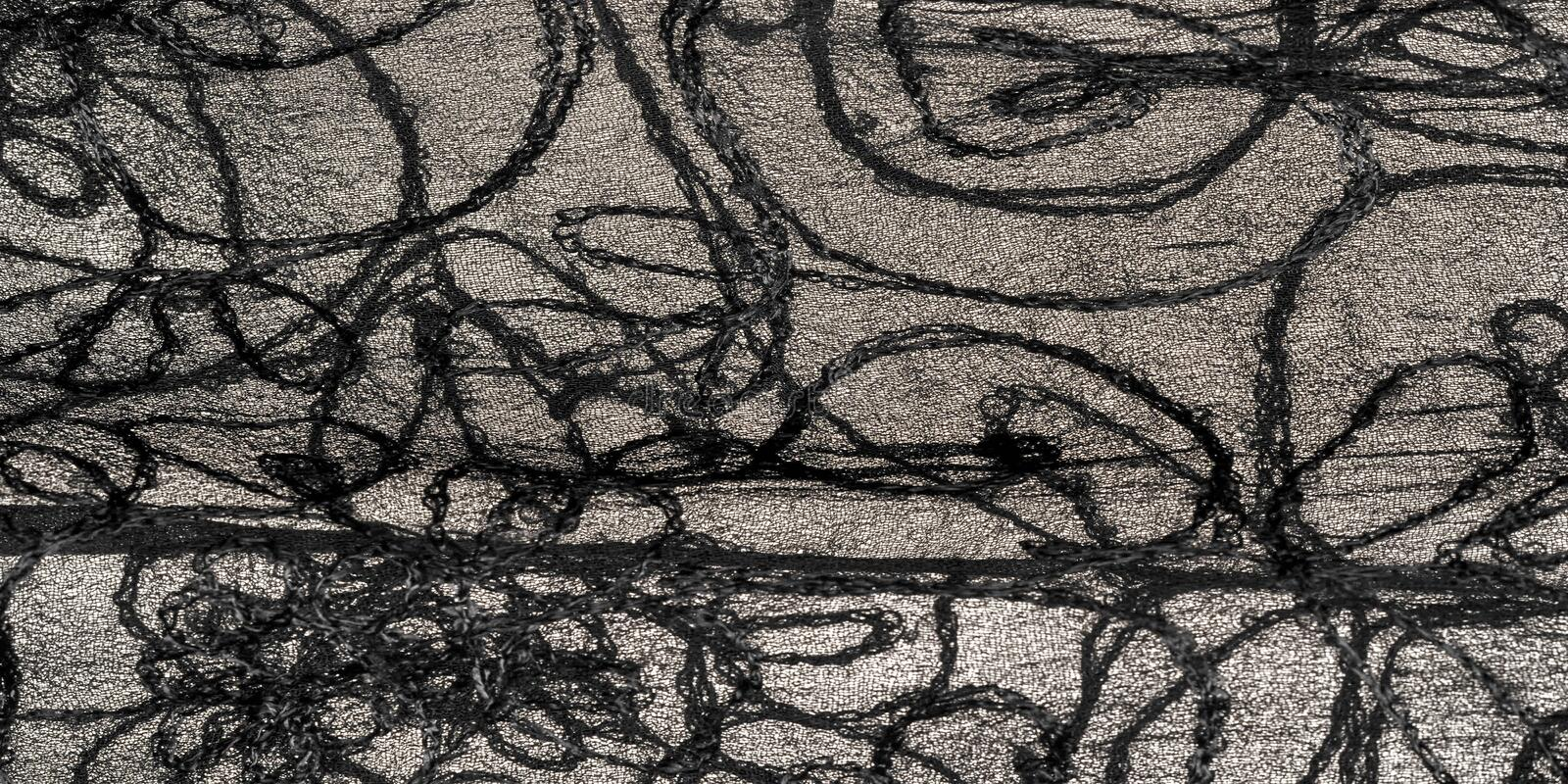 Texture background pattern, silk fabric, black lace pattern, high definition wallpaper can make your computer and mobile device royalty free stock photo