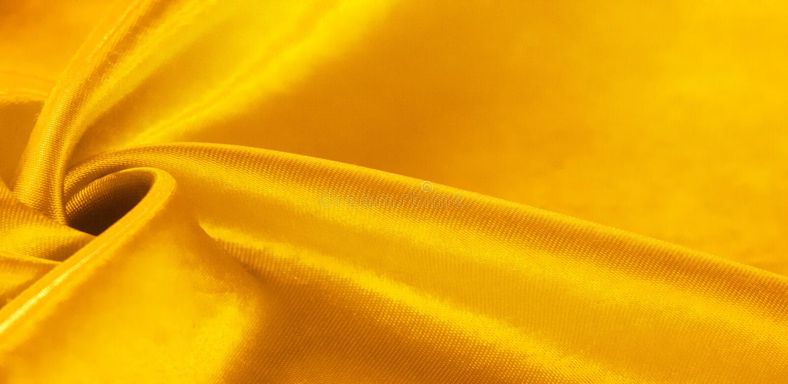 Texture, background, pattern, silk fabric in yellow. This adorable, soft and shiny fabric has a smooth mink surface, perfect for. Creating your projects royalty free illustration