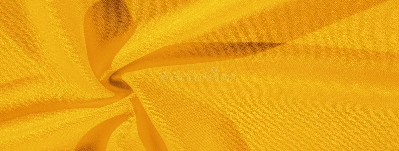 Texture, background, silk fabric, yellow woman`s handkerchief; Design-friendly wallpaper design for your projects. Texture, background, silk fabric,  yellow stock images