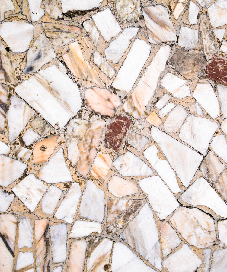 Texture background of stone . Pieces of marble in cement. Texture background of stone floor. Pieces of marble in cement royalty free stock photos