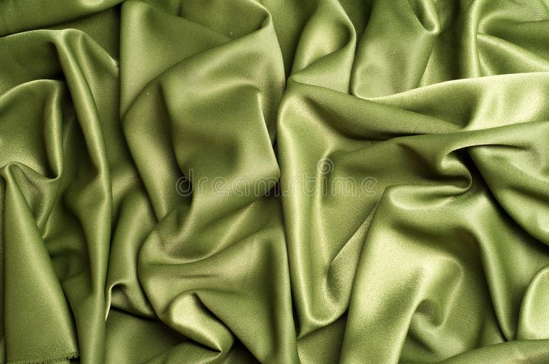 Texture, background. template. Cloth silk green, crepe de Chine. royalty free stock images