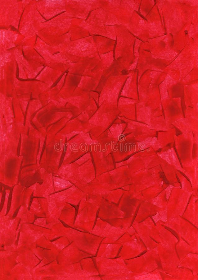 Texture background Wallpaper chaotic brush strokes crimson. Gouache royalty free stock image