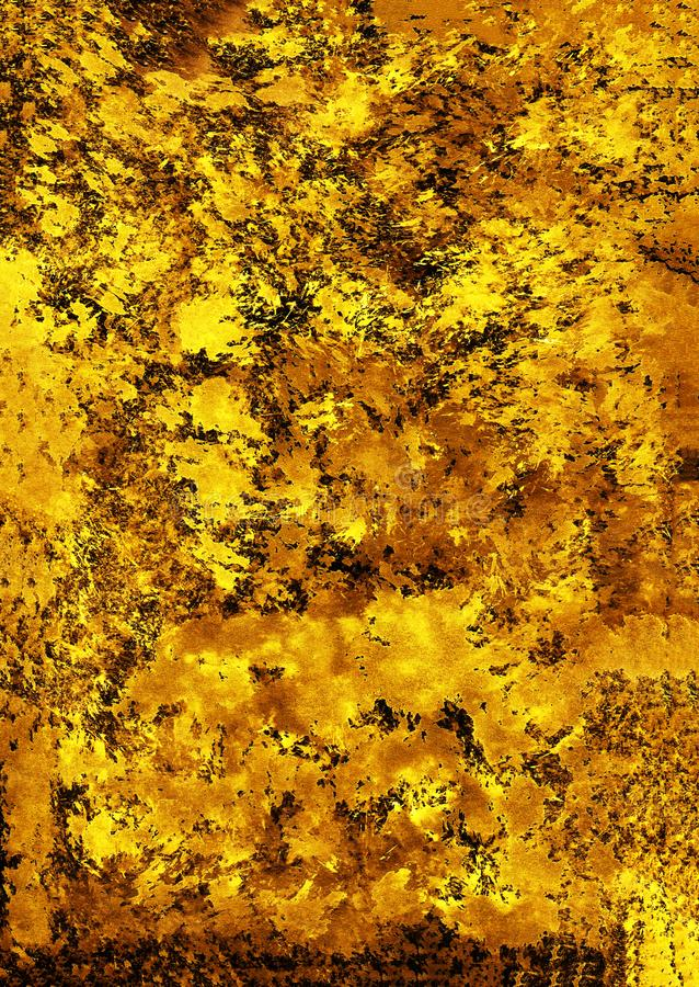 Texture background Wallpaper yellow brown brush strokes pokes on black background. Texture background Wallpaper yellow brown brush strokes pokes on black vector illustration