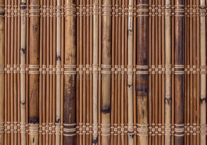 Texture a bamboo with fabric weaving stock photography
