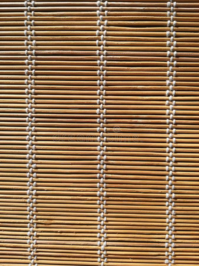 Texture of bamboo mat curtain royalty free stock images