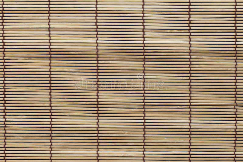 Texture of bamboo mat, curtain stock images