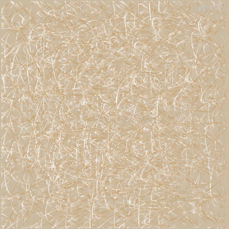 Texture beige avec le fil embrouillé illustration stock