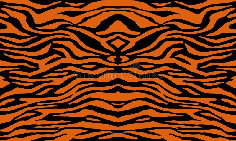 Texture of bengal tiger fur, orange stripes pattern. Animal skin print. royalty free illustration