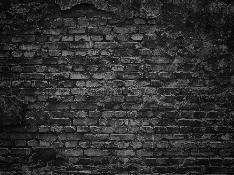 Texture of a black brick wall background gloomy background for d royalty free stock photos