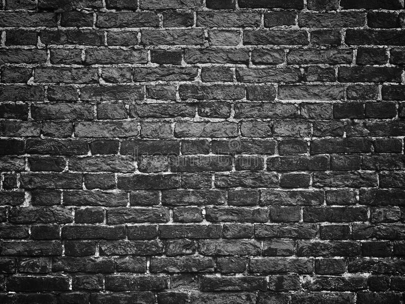 Texture Of A Black Brick Wall, Dark Background For Design ...