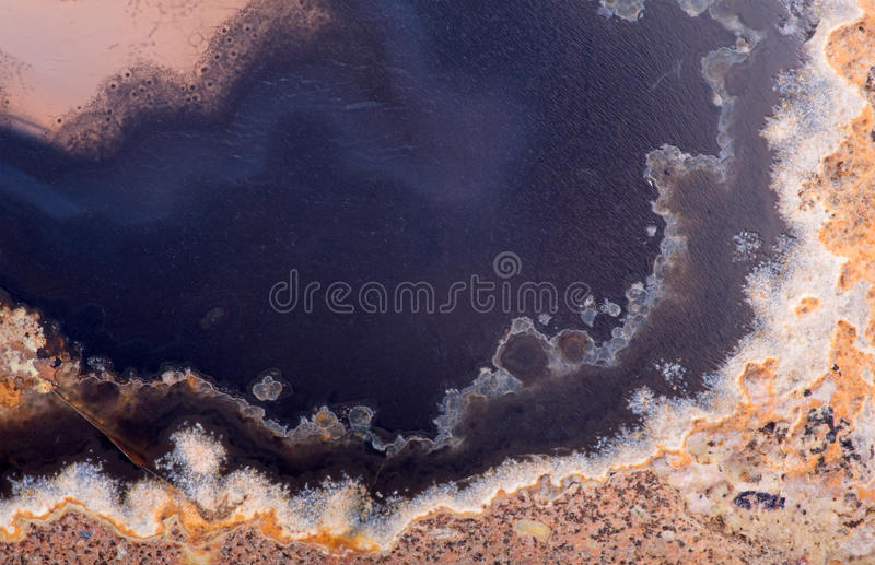 Texture with black an brown agate structure. Background with contrast agate structure royalty free stock photography