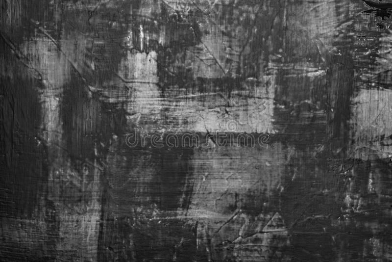 Black paint smeared on the wall. Dark background, substrate for work. Texture black paint smeared on the wall. Dark background, substrate for work royalty free stock image