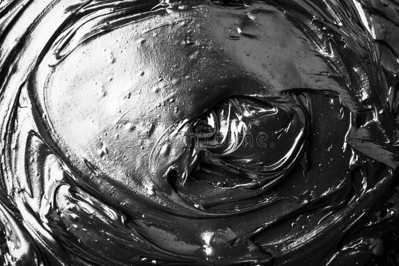Texture of black professional face mask as , closeup. Texture of black professional face mask as background, closeup stock photos