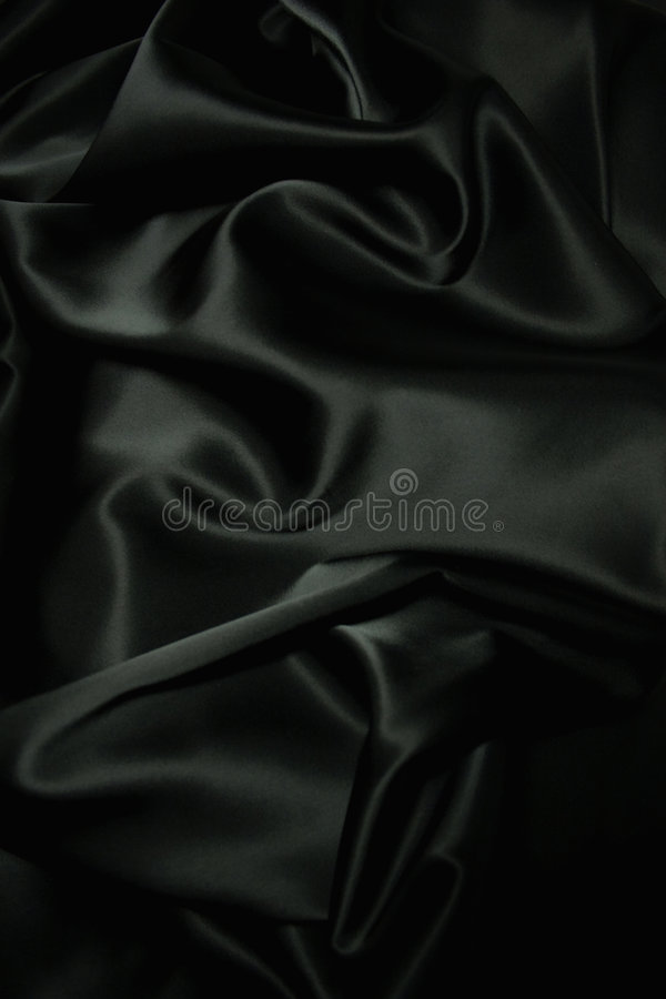 Texture of a black silk stock photo