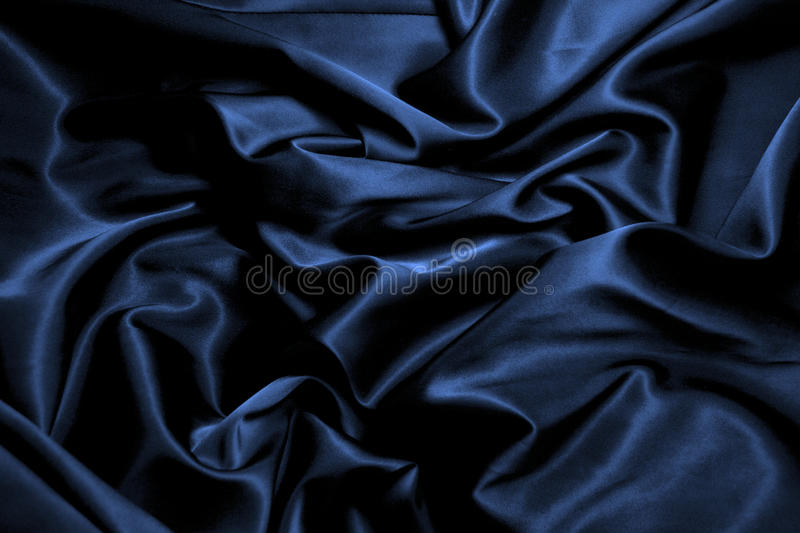 Texture of black silk. Close up stock image