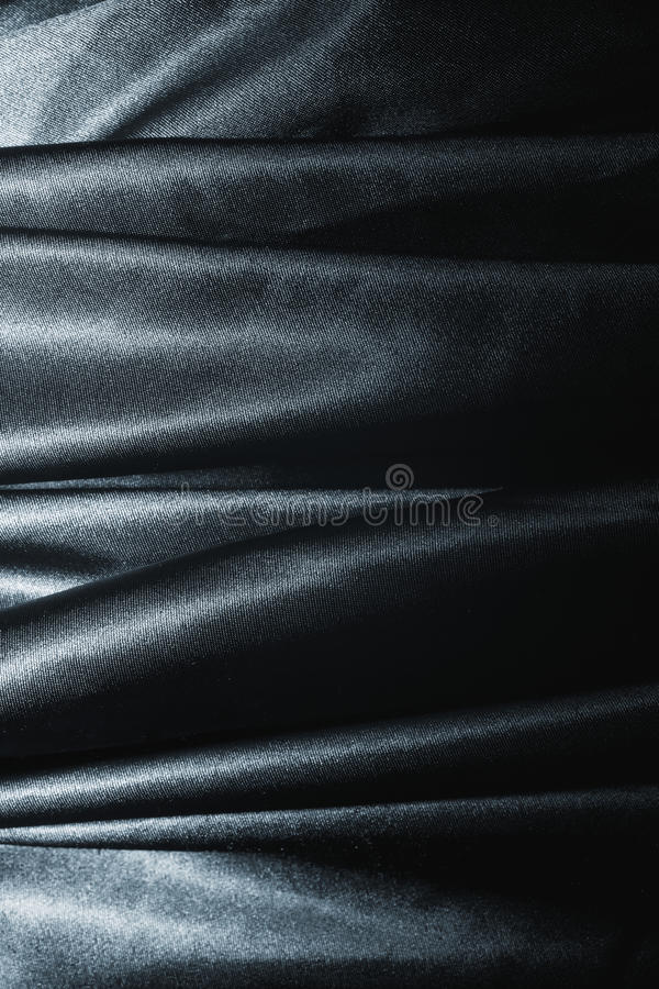 Texture of a black silk. Close up royalty free stock image