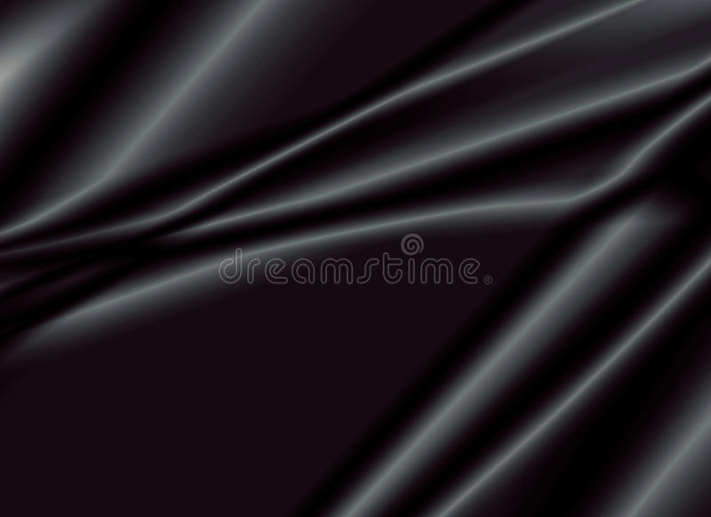 Texture of a black silk fabric royalty free stock image