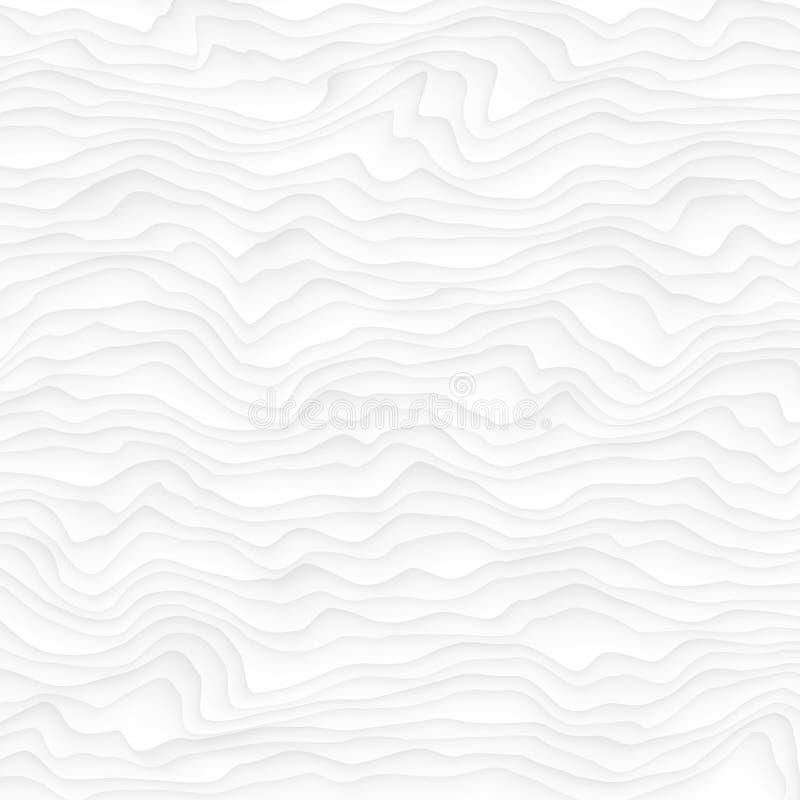 texture blanche Configuration abstraite sans joint geome onduleux de nature de vague illustration stock
