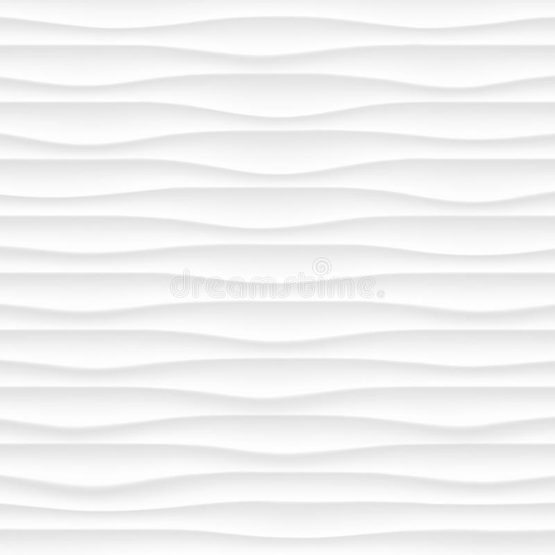 texture blanche Configuration abstraite sans joint geome onduleux de nature de vague illustration de vecteur