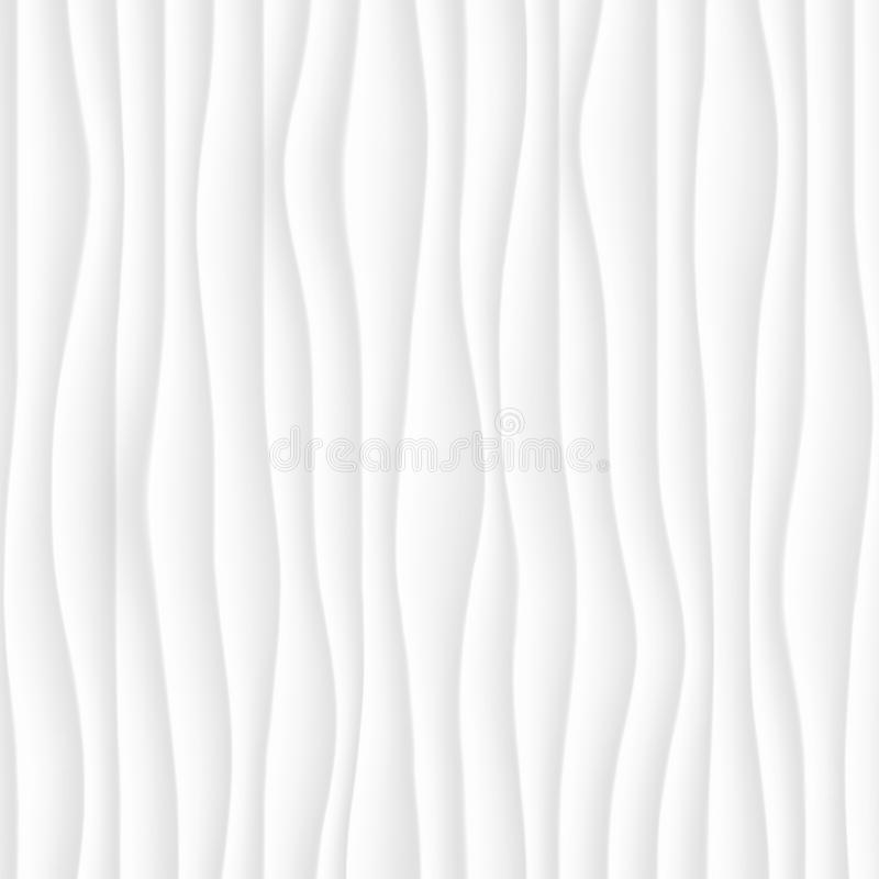 texture blanche Configuration abstraite sans joint geome onduleux de nature de vague illustration libre de droits