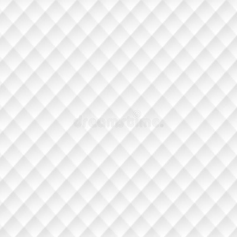 texture blanche Configuration abstraite sans joint maille carrée géométrique illustration libre de droits