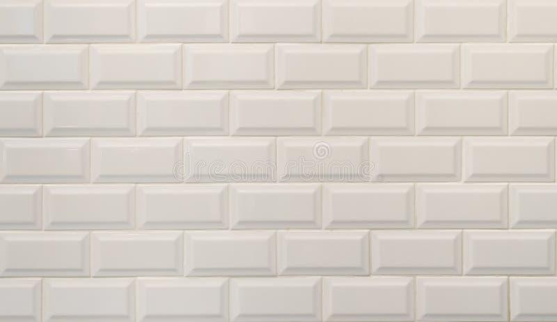Texture blanche de carreaux de céramique, imitant les briques blanches images libres de droits