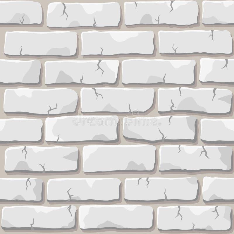 Texture blanche de mur de briques illustration libre de droits
