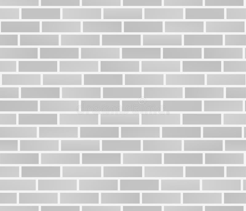 Texture blanche de mur de briques Configuration sans joint de mur de briques Illustration de vecteur illustration de vecteur