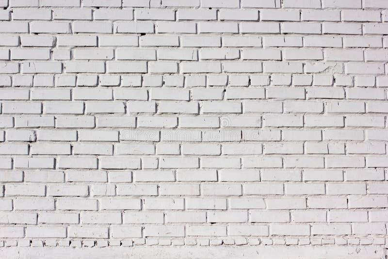 Texture blanche de mur de briques Fond urbain de ville image stock