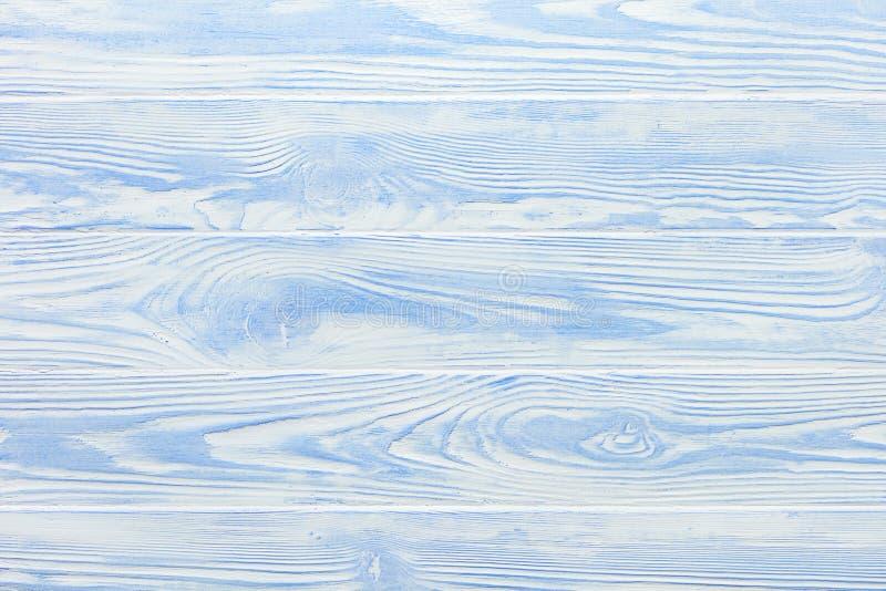 Texture bleu-clair et blanche de partie supérieure du comptoir en bois minable photos libres de droits