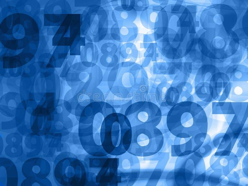 Texture bleu-foncé de fond de nombres illustration stock