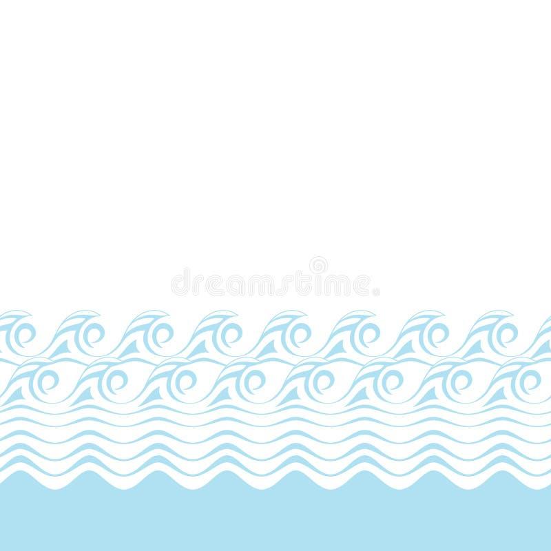 Texture bleue abstraite sans couture de vague (vecteur illustration libre de droits