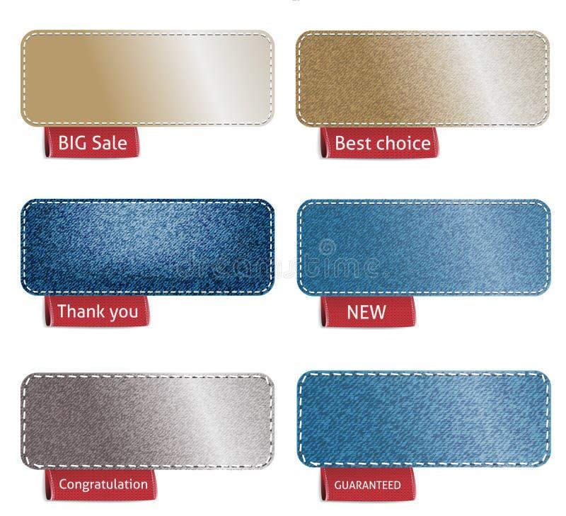 Texture bleue de denim illustration de vecteur