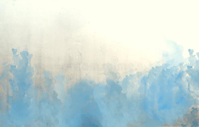 Texture bleue de fond d'abrégé sur aquarelle photos stock