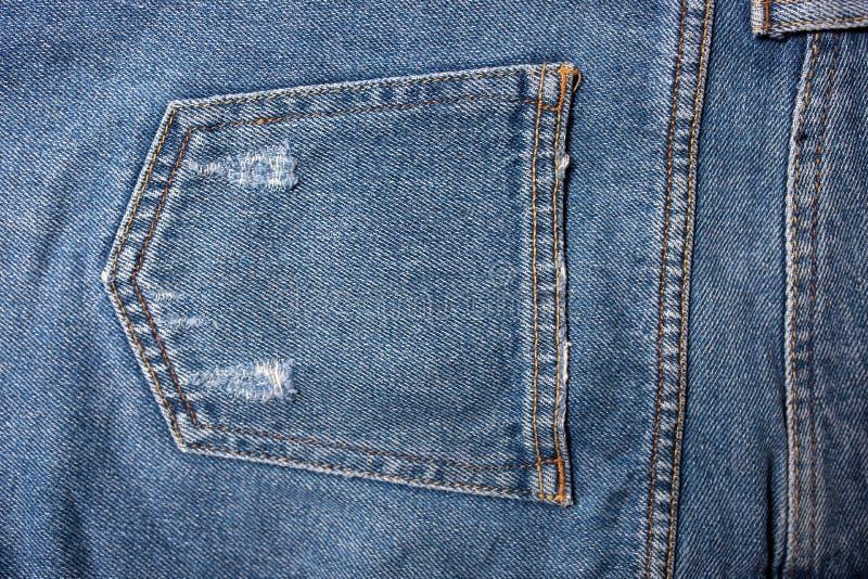 Texture bleue de jeans de denim Texture de fond de jeans de blue-jean photo libre de droits