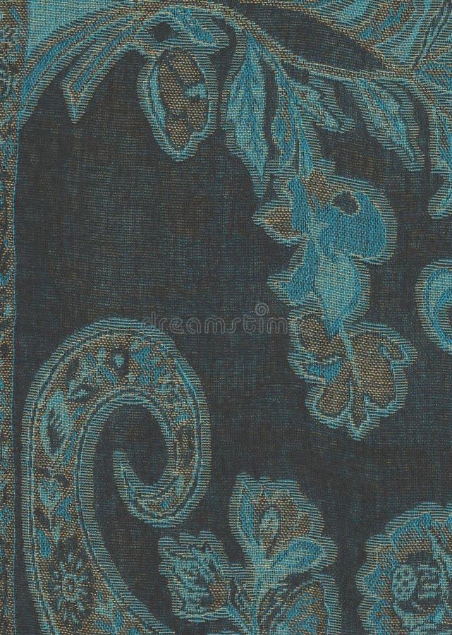 Texture bleue de pashmina photo stock