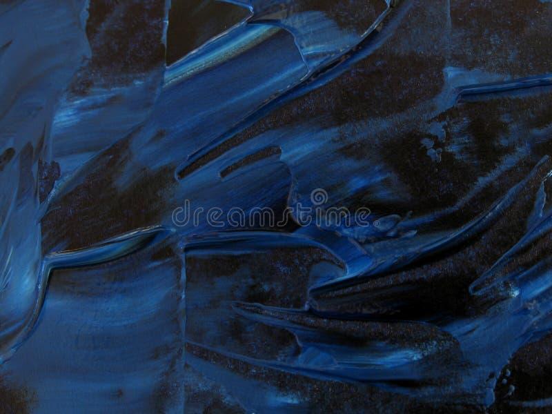 Texture bleue de peinture à l'huile photo libre de droits