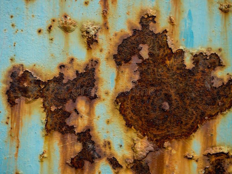 Texture bleue de rouille image libre de droits