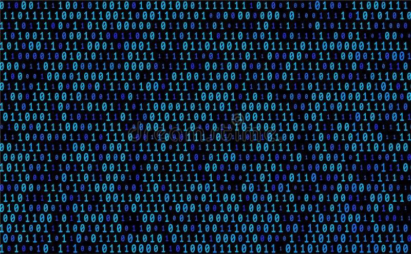 Texture bleue de vecteur de code binaire illustration stock