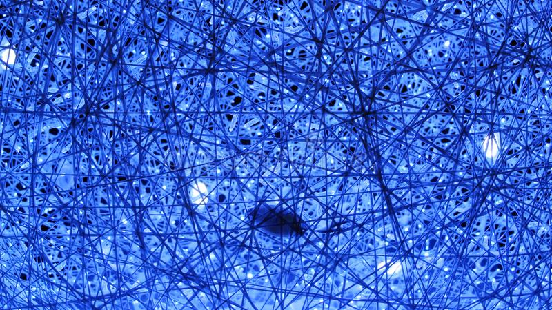 Texture bleue des guirlandes et des lumières brillantes à la nouvelle année featival photo stock