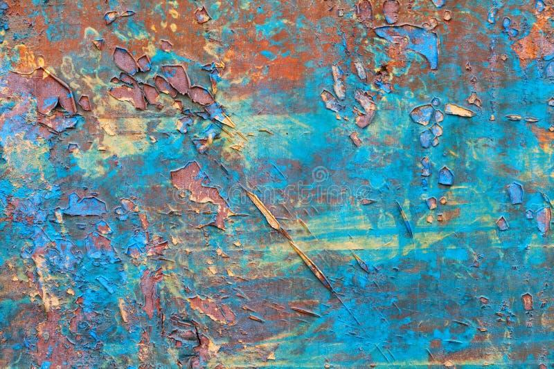 Texture bleue minable en bois de couleur photo stock