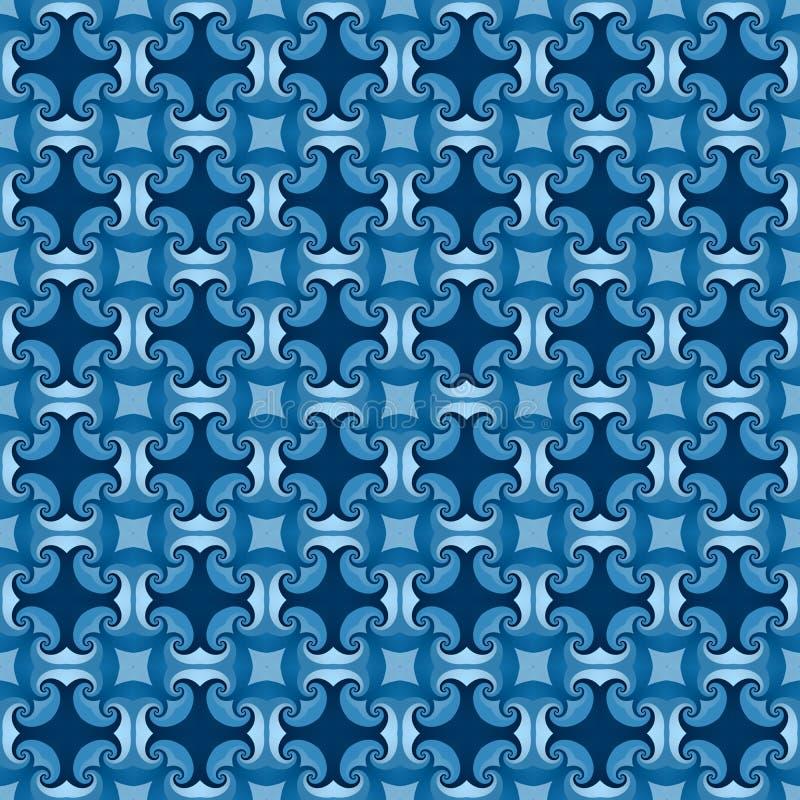 Texture bleue moderne sans couture de résumé illustration de vecteur