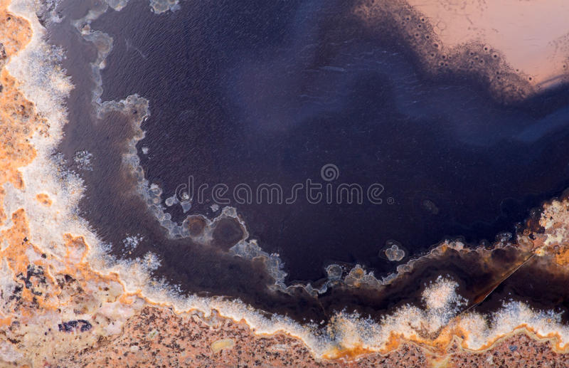 Texture with blue an brown agate structure. Background with contrast agate structure stock image