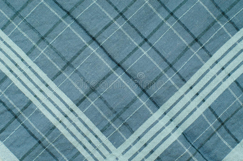 Texture of Blue Gingham Fabric. Texture of blue gingham fabric for texture or pattern background royalty free stock photo