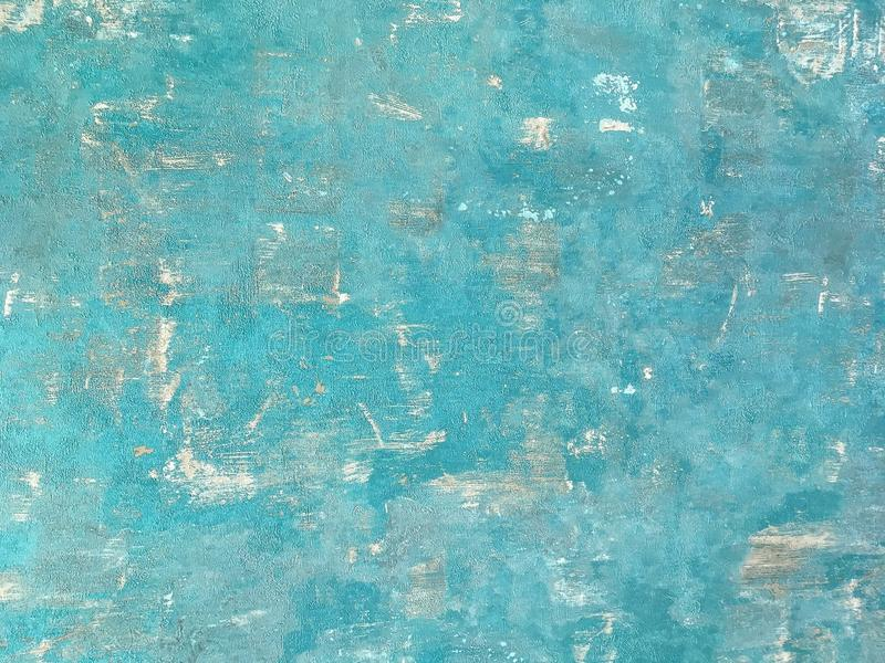 Texture of a blue old shabby wooden background. Structure of a vintage turquoise painted coating of wood. stock photos