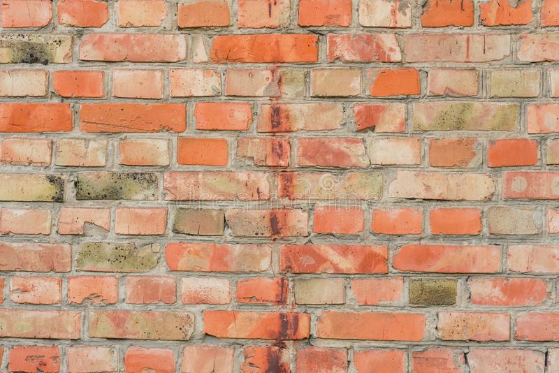 Texture. Brick. It can be used as a background. Brick texture with scratches and cracks. It can be used as a background stock images
