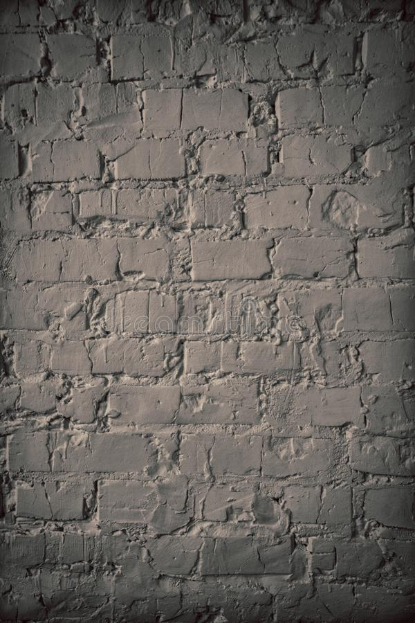 Texture of a brick wall. brickwork with cement seams of white color stock photo