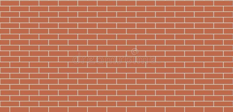 Brick wall brown seamless texture. Masonry background stock illustration