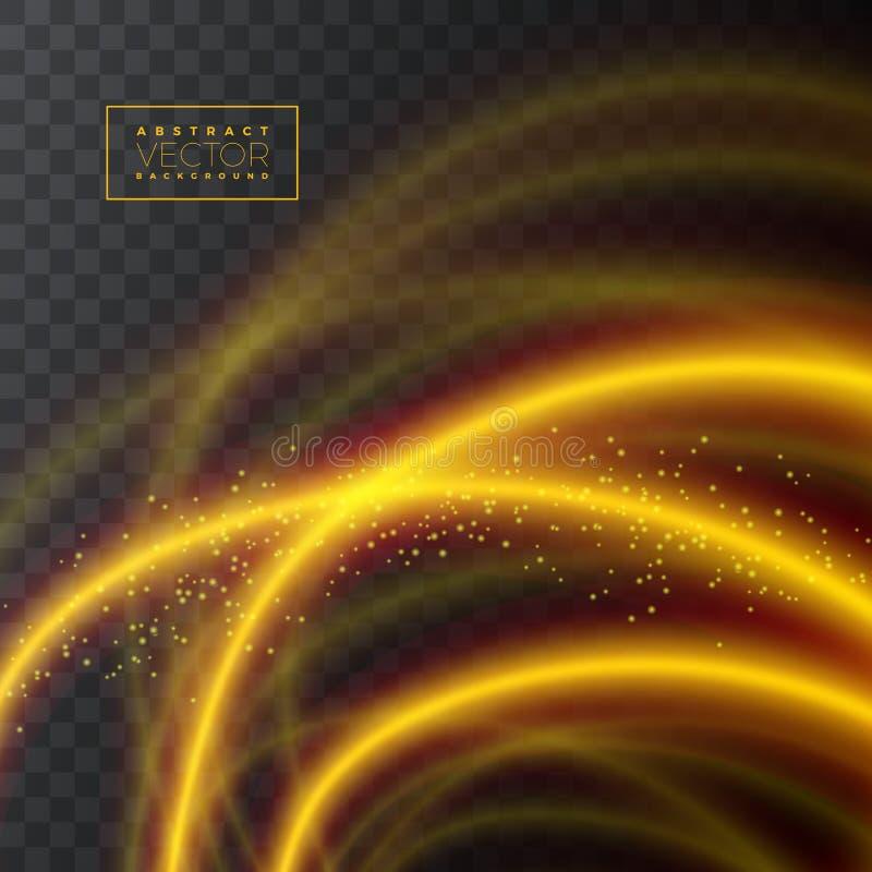 Texture brillante abstraite d'effet de la lumière sur le fond transparent, illustration de vecteur illustration de vecteur